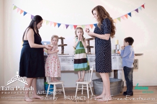 Vintage carnival themed kids party