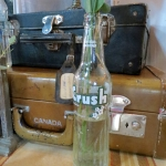 Vintage Crush Bottle Vase and Suitcases