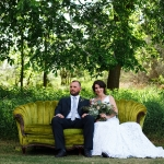 Country wedding couple at La Lune Weddings & Events