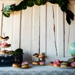 Donut dessert station at La Lune Weddings & Events
