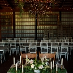 Sweet heart table in the barn