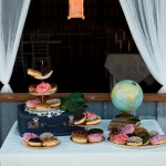 Vintage donut dessert table at La Lune Weddings & Events