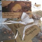 Custom made eco friendly loose leaf tea favors