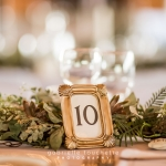 Golf framed table number at Gimli Park Pavilion