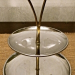 Vintage Stainless Steel 2 Tier Dainty Serving Dish